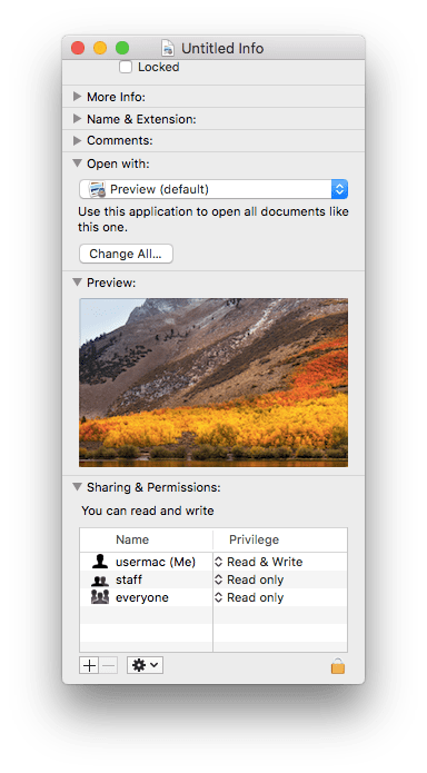 view file info in finder