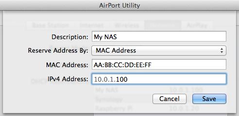 airport static ip
